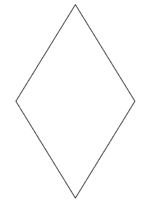 A Diamond - A Common Shape to Learn to Draw